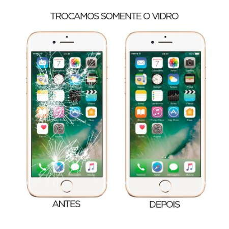 Troca do vidro do iPhone 7