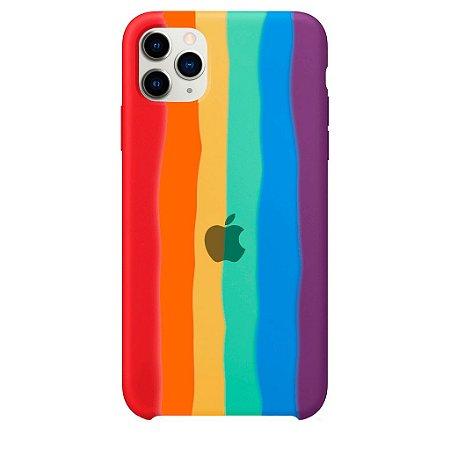 Capinha Silicone Arco Íris - iPhone 11 Pro