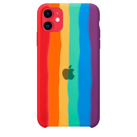 Capinha Silicone Arco Íris - iPhone 12/12 Pro