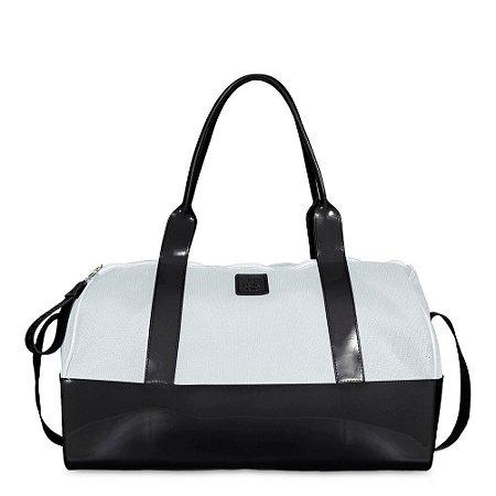 Bolsa Tecido PJ4626 Mesh Preto/Branco