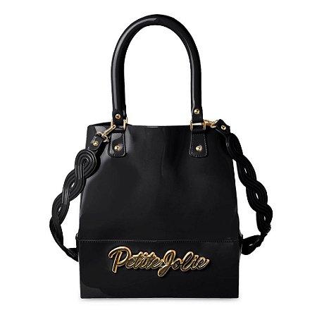 Bolsa PJ4517 Enfeite Preto/Ouro