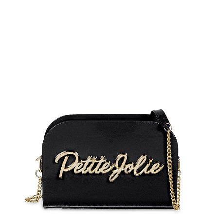 Bolsa PJ4518 Enfeite Preto/Ouro