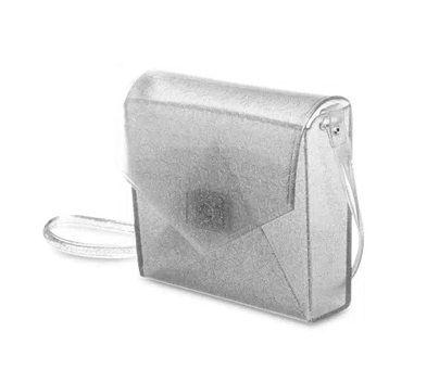 Bolsa Flap PJ2365 J-Lastic Glitter Prata