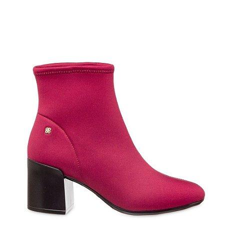 Bota Sock Petite jolie PJ4913 Vinho Acordeon