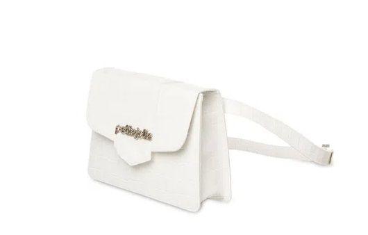 Bolsa Koby Petite jolie PJ5063 Croco Branca