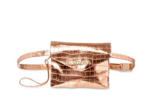 Bolsa pochete Belt Petite jolie PJ4411  croco/croco rose/rose