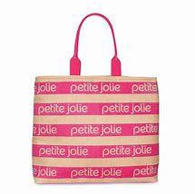 Bolsa Tecido PJ4724 Palha/Serig Natural/Pink Lemonade