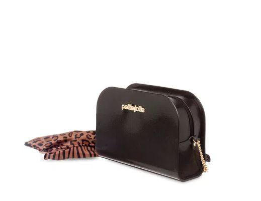 Bolsa Pretty Petite Jolie PJ5062 J-lastic/Onca/Zebra Preto/Natural