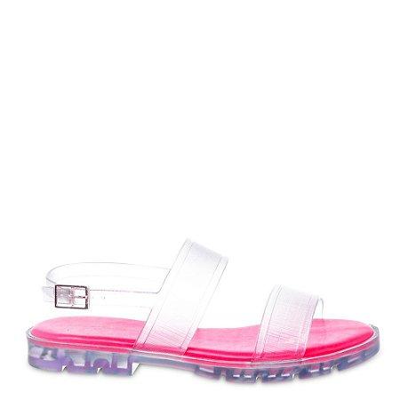 Sandalia Block PJ4998 J-Lastic Translucido Pink
