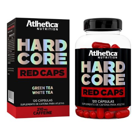 Hardcore Red Caps Atlhetica Nutrition 120 Cáps