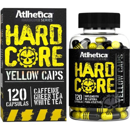 Hardcore Yellow Caps Atlhetica Nutrition 120 Cáps