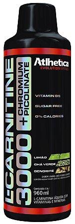 L-Carnitine 3000 C/ Picolinato de Cromo Atlhetica Nutrition 480ml