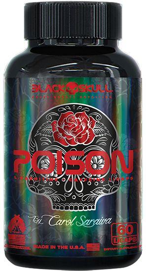 Poison Black Skull 60 Cáps - Termogênico Feminino