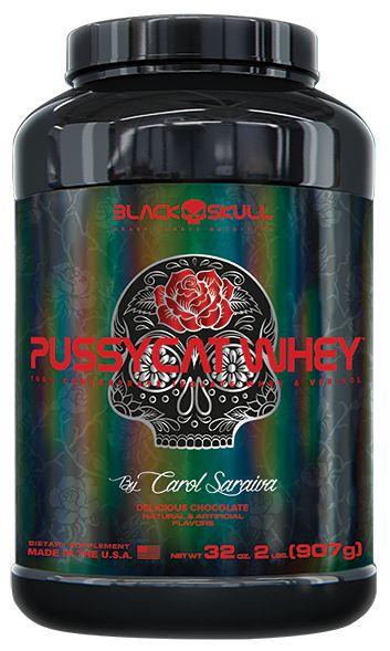 Pussycat Whey Black Skull 907g By Carol Saraiva