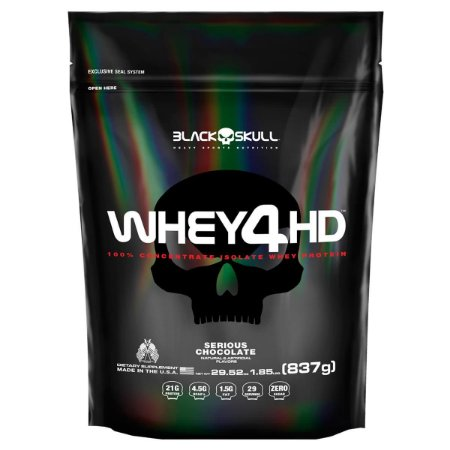 Whey 4HD Black Skull 837g - Refil