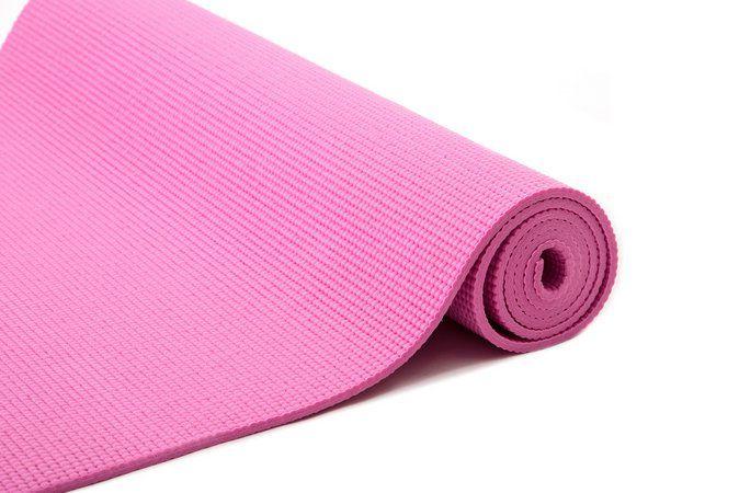 Tapete Colchonete Yoga Pilates Ginástica Rosa 170x60cm