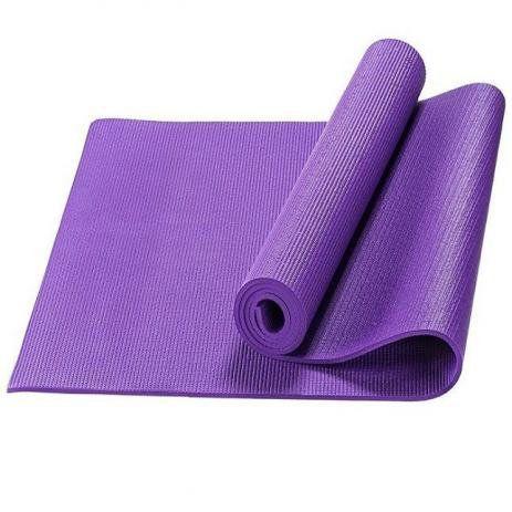 Tapete Colchonete Yoga Pilates Ginástica Lilás 170x60cm