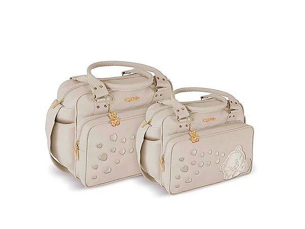7f88fc611 Kit Bolsa Maternidade Bege Griff Baby - Petitico