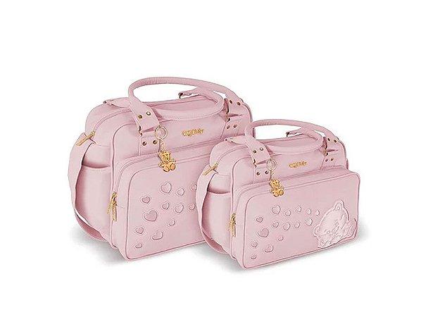 Kit Bolsa Maternidade Rosa Griff Baby