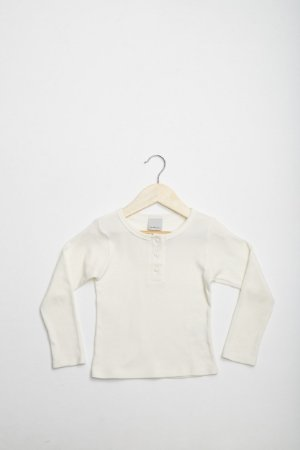 Blusa Infantil Malha Off White