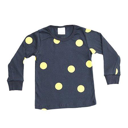 Pijama Infantil Bacim Malha Preto e Amarelo