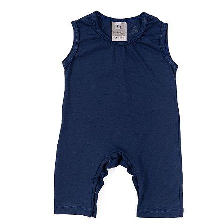 Macacão Coelho Bebê Malha Azul