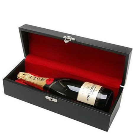 Kit Champanhe Moet Chandon 750ml Caixa Madeira