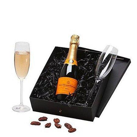 Kit Champanhe Veuve Clicquot 375ml com 2 Taças Cristal