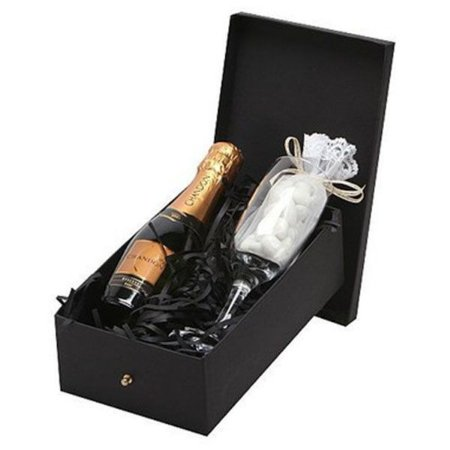 Kit Espumante Chandon Baby Brut 187ml com Taça e Amêndoas