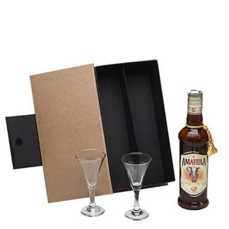 Kit Licor Amarula 375ml com Cálices Cristal