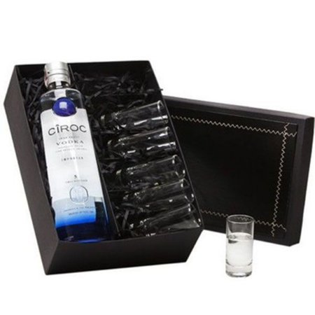Kit Vodka Ciroc 750ml com  6 Copos