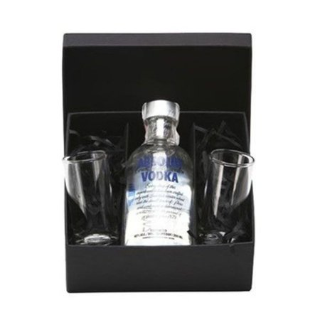 Kit Vodka Absolut Mini 200ml com Copos