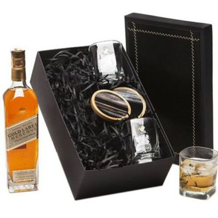 Whisky Johnnie Walker Gold Reserve 750ml com Copos e Porta Copos