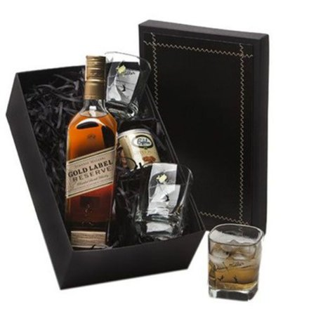 Whisky Johnnie Walker Gold Reserve 750ml com Copos e Castanhas