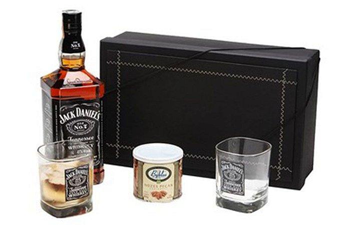Whisky Jack Daniels 1 litro com Copos e Castanhas