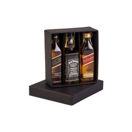 Kit 3 Whiskys  Mini 50ml Black Label, Jack Daniels e Red Label
