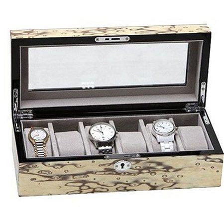 Porta Relógios Resina para 06 Unidades