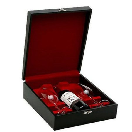 Kit Vinho Chileno Tinto Caliterra 750ml com Taças Cristal