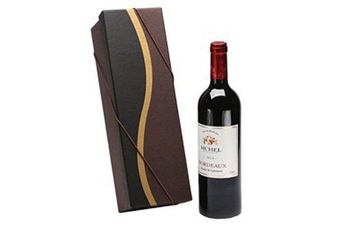 Kit Vinho Francês Tinto Sichel 750ml Caixa Marrom