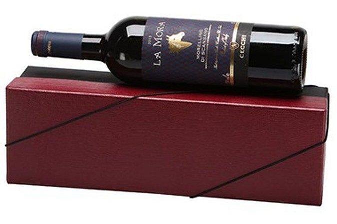 Kit Vinho Italiano Tinto La Mora Cecchi 750ml Caixa Vermelha