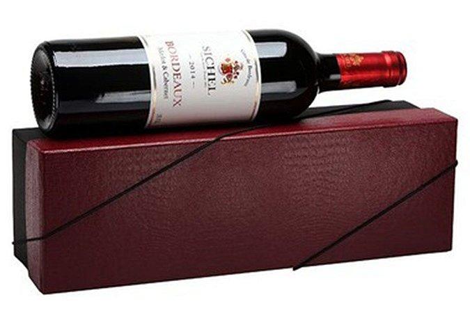 Kit Vinho Francês Tinto Sichel 750ml Caixa Vermelha