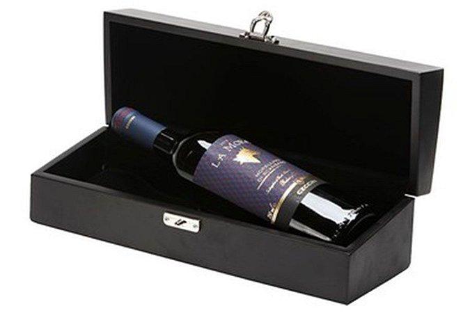 Kit VInho Italiano Tinto La Mora Cecchi 750ml Caixa Madeira