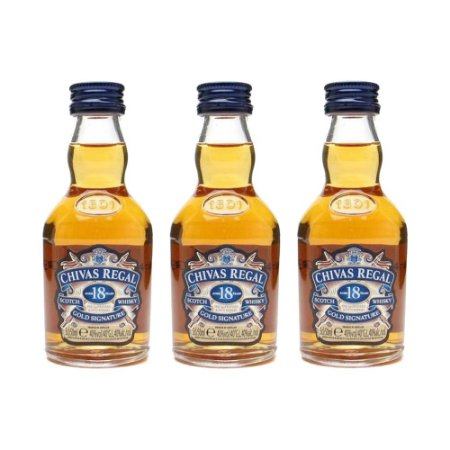 Whisky Chivas Regal 18 Anos Mini 50 ml Kit com 3 Unidades