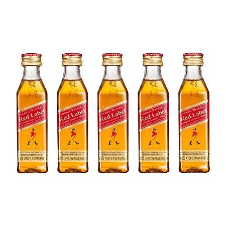 Whisky Red Label 50 Mini ml Kit com 5 Unidades