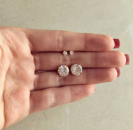 Kit Brinco de Zircônia Diamond Dourado