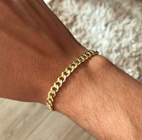 Pulseira Tommy Banhada a Ouro 18k
