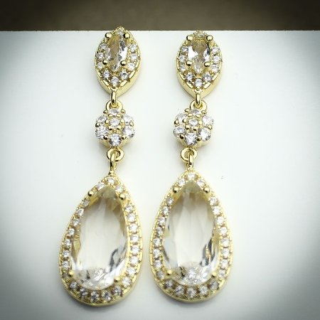 Brinco Kate Mil Zircônias Diamond Ouro 18K