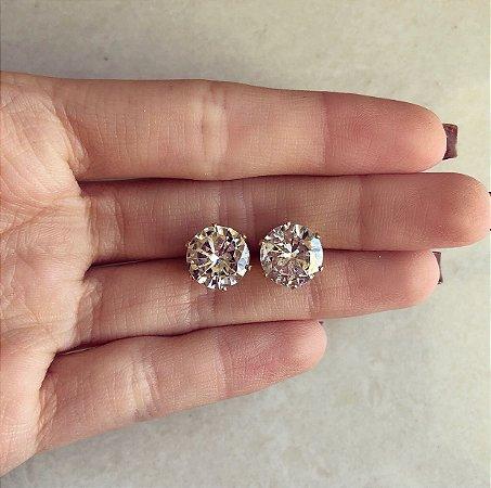 Brinco Redondo Maxi Zircônia Diamond Dourado
