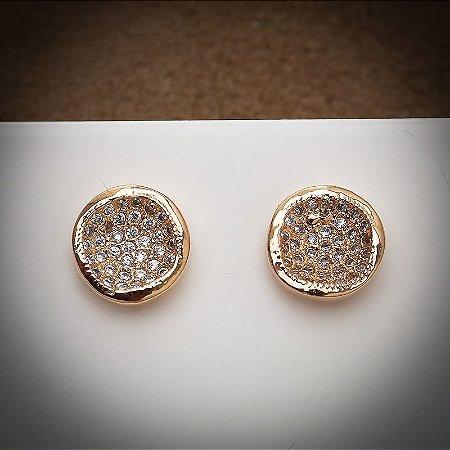 Bolinha Cravejada Mil Zircônias Diamond Ouro Rosé