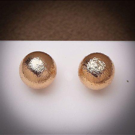 Brinco Bolinha Pequeno Fosca Ouro Rosé